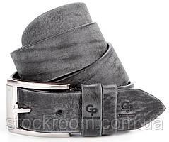 Ремень мужской GRANDE PELLE джинсовый серый (00863)