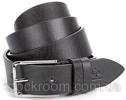 Ремень мужской GRANDE PELLE 00865 кожа Черный, Черный