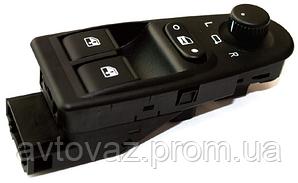 Блок кнопок склопідйомниками ВАЗ 1117, ВАЗ 1118, ВАЗ 1119 Калина c джостиком 2 кнопки АВАР