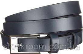 Ремень женский Grande Pelle 11070 кожаный синий