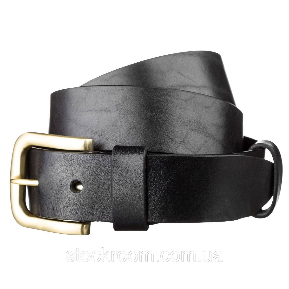 Ремень мужской SHVIGEL 15271 кожаный Черный, Черный