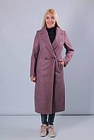 Пальто женское в цвете марсала