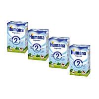 Humana (Хумана) 2 с пребиотиками, 4х600 г. (4 шт.)