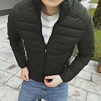 Мужская куртка весенняя хаки