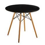 Стол обеденный Тауэр Вуд черный 60 см на буковых ножках круглый SDM Group (бесплатная доставка), фото 8