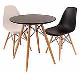 Стол обеденный Тауэр Вуд черный 60 см на буковых ножках круглый SDM Group (бесплатная доставка), фото 4