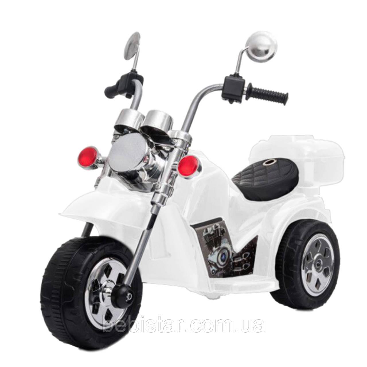 Детский электромобиль-трицикл белый Т-7230 WHITE деткам от 2 до 4 лет