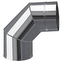 Колено 90° одностенное, диаметр 200 мм из нержавеющей стали