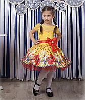 """Красивое детское платье """"Маки"""""""