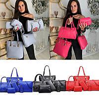 Женский набор сумок 6 в 1 №7757 в расцветках, фото 1