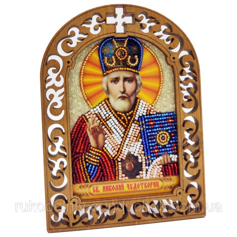 Набор для вышивки бисером IKF-03 Святой Николай Чудотворец