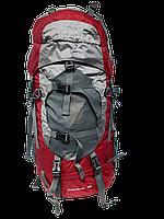 Рюкзак туристический Leadhake, каркасный 60 л Красный