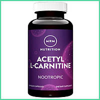 MRM, Ацетил-L-карнитин, Acetyl-L-Carnitine, 500 мг, 60 веганских капсул