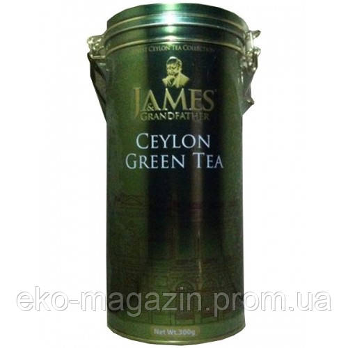 Чай зеленый James@Grandfather 300гр, ж/Б