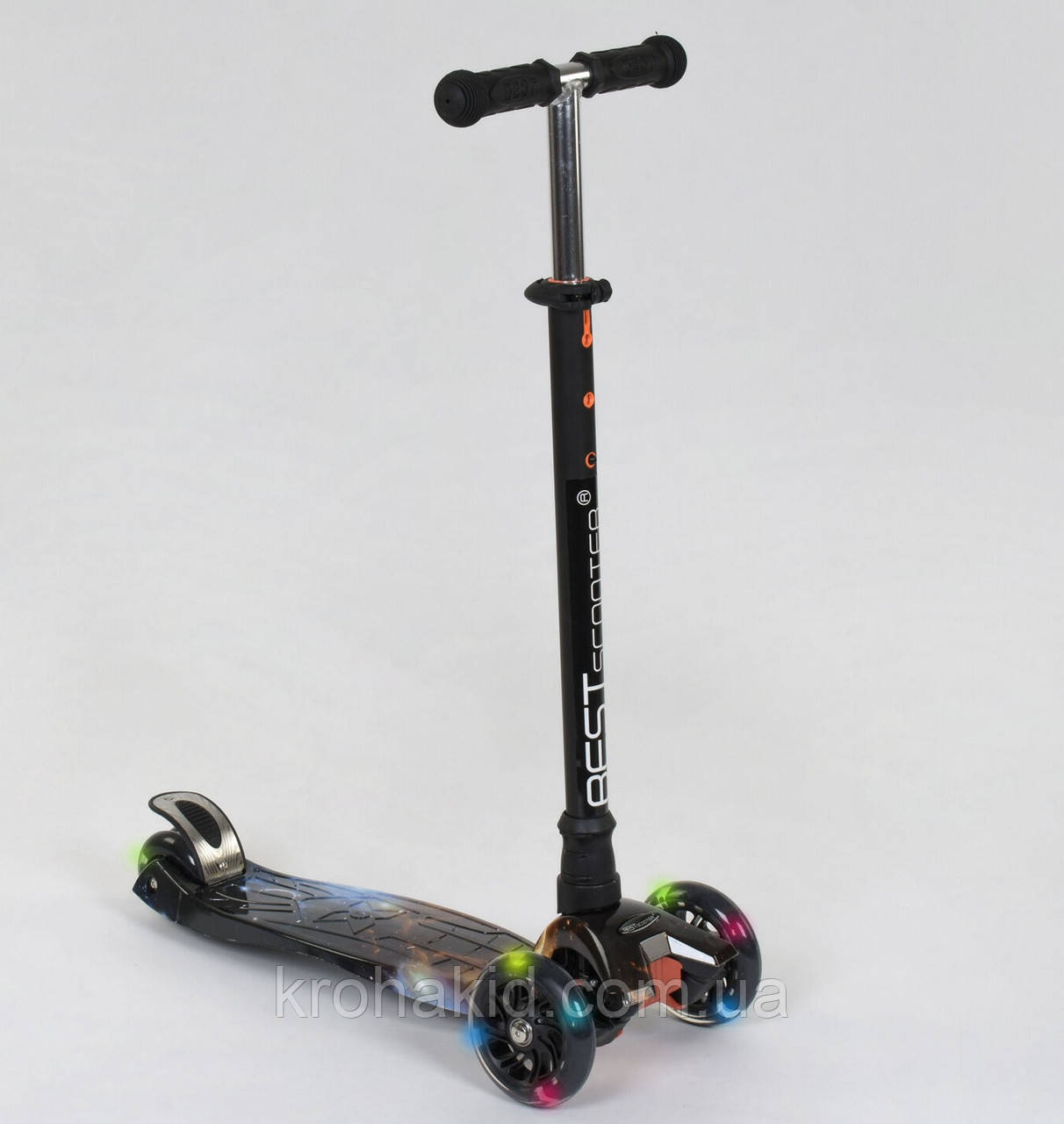 """Самокат MAXI """"Best Scooter"""" А 24662/779-1311 колеса PU- диаметр 12 см, трубка руля алюминиевая от 63 до 86 см"""