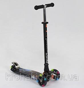 """Самокат MAXI """"Best Scooter"""" А 24662/779-1311 колеса PU- диаметр 12 см, трубка руля алюминиевая от 63 до 86 см, фото 2"""