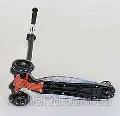 """Самокат MAXI """"Best Scooter"""" А 24662/779-1311 колеса PU- диаметр 12 см, трубка руля алюминиевая от 63 до 86 см, фото 3"""