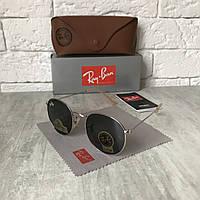 Солнцезащитные очки RAY BAN 3447 ROUND черный металлик