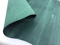 """Кожа натуральная """"Crazy horse"""" Зеленый (Emerald), толщина 1.4-1.6 мм."""