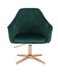 Перукарське, косметичне крісло HROVE FORM HR831N зелений