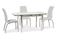 Стол раскладной GD-019 белый 100(150)x70 (SIGNAL)