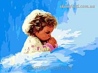 Раскраска по номерам  Menglei Молитва малыша