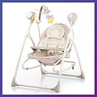 Детская колыбель-качели CARRELLO Nanny 3в1 CRL-0005 Beige Dot /1/ MOQ | Колиска-гойдалка Карело Нані