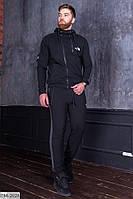Костюм спортивный мужской черного цвета со вставками