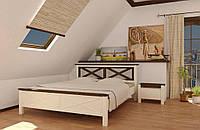 Кровать деревянная Прованс 140х200 Elite-Grand сосна белая
