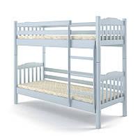 Кровать деревянная двухъярусная 90х200 Бай-бай Elite-Grand сосна белый