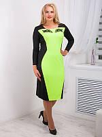 Платье женское с контрастной вставкой №716, фото 1