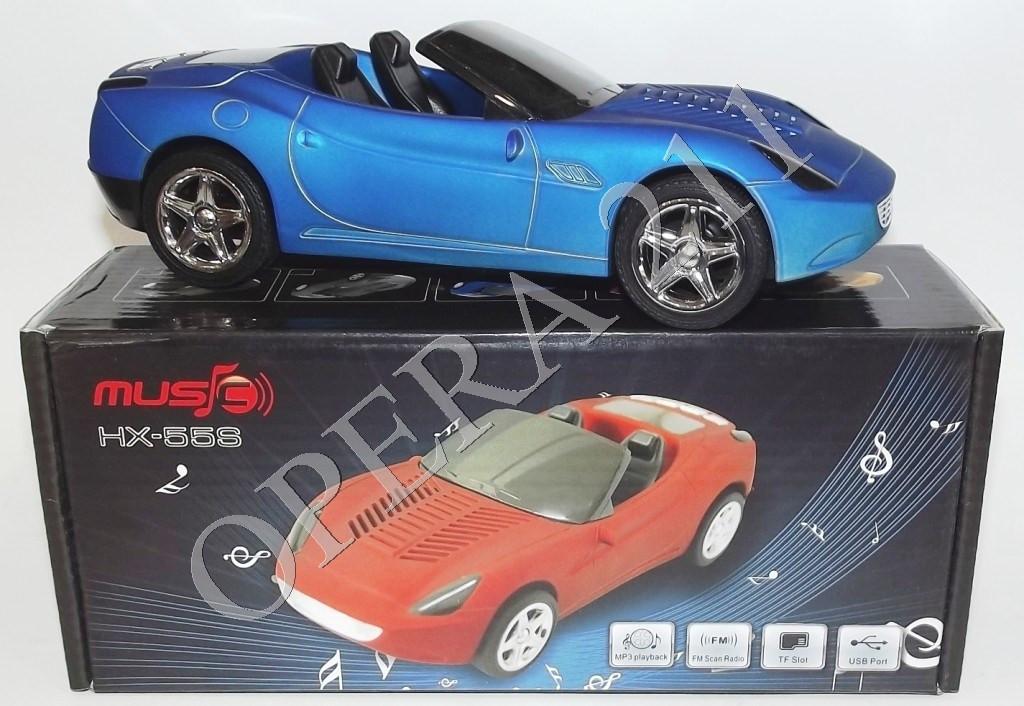 Портативная колонка машина Ferrari hx-55s, MP3, FM приемник