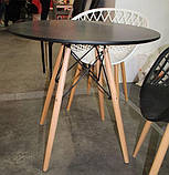 Стол обеденный Тауэр Вуд черный 100 см на буковых ножках круглый SDM Group (бесплатная доставка), фото 7