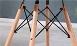 Стол обеденный Тауэр Вуд черный 100 см на буковых ножках круглый SDM Group (бесплатная доставка), фото 5