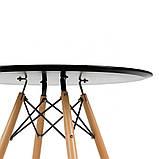 Стол обеденный Тауэр Вуд черный 100 см на буковых ножках круглый SDM Group (бесплатная доставка), фото 6