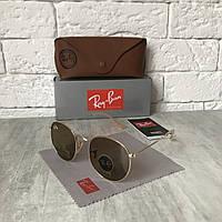 Солнцезащитные очки RAY BAN 3447 ROUND коричневый золото