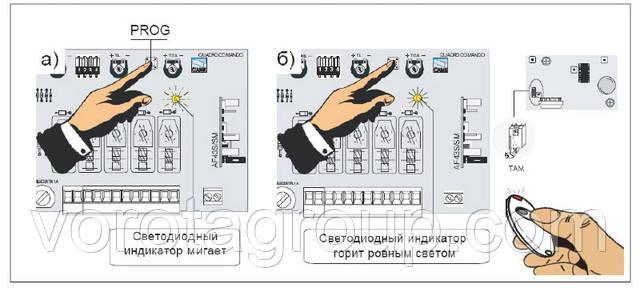 Программирование брелока-передатчика Rolling Code  TWIN2 САМЕ