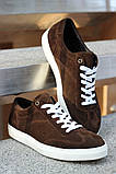 Мужские замшевые кеды коричневые, фото 2