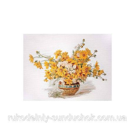 Набір для вишивання хрестом ТМ Мар'я Майстриня 06.002.57 Жовті ромашки