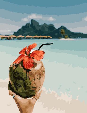 Холст для рисования Вкус кокоса (BK-GX28164) 40 х 50 см (Без коробки)