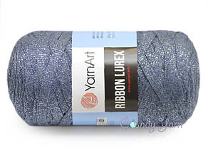 YarnArt Ribbon Lurex, Синий-серебро №730