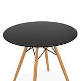 Стол обеденный Тауэр Вуд черный 100 см на буковых ножках круглый SDM Group (бесплатная доставка), фото 9