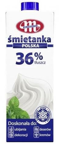 Кулінарні вершки Mlekovita, жирність 36%, 1л.