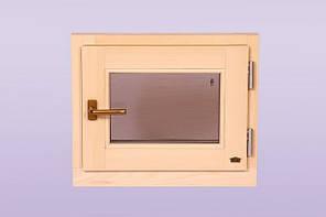 Оконный блок для сауны и бани «Поворотно — откидной»