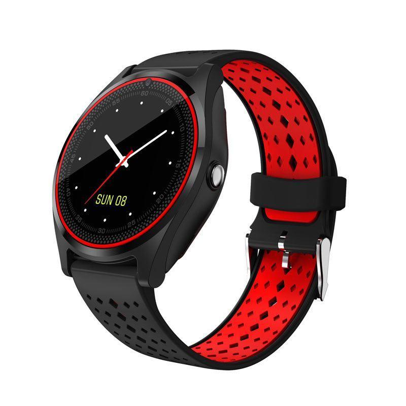 Умные часы Smart Smart Watch V9 Black/Red (SWV9BLR)