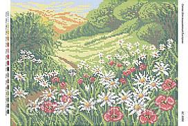 """Схема для полной зашивки бисером """"Полевые цветы"""""""