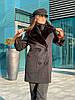 Женское демисезонное пальто с меховым воротником 42-46 р, фото 4