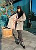 Женское демисезонное пальто с меховым воротником 42-46 р, фото 5
