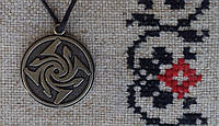 "Слов'янський оберіг Амулет на шею ""Гаруда"", Оберіг має діагональ: 2,5 см, метал"