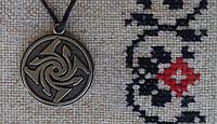 "Слов'янський оберіг Амулет на шию ""Гаруда"", Оберіг має діагональ: 2,5 см, метал, оберіг Гаруда"
